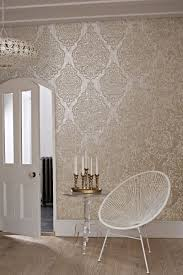 bathroom wallpaper designs gorgeous large scale printed effect damask wallpaper design