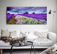 Landscape Canvas Prints by Lavender Wall Painting Modern Decor Purple Landscape Canvas Prints