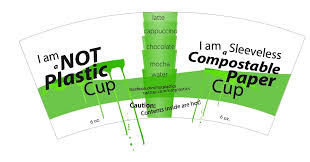 Cup Design Compostable Sleeveless Cups