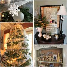 White And Gold Home Decor White And Gold Rustic Holiday Mantel Decor The V Spot