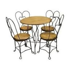 Vintage Ice Cream Parlor Table Chairs Vintage Ice Cream Parlor