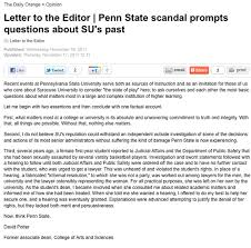 a very ironic letter to the editor ran in the syracuse student
