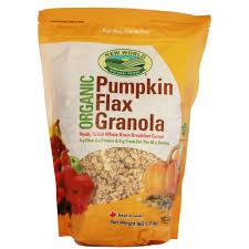 pumpkin flax granola org u2014 new world foods organic u0026 natural