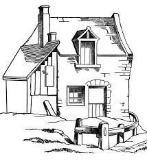 coloring pages houses awesome barn house in houses coloring page netart