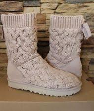 s isla ugg boot ugg australia s cotton mid calf medium b m boots ebay