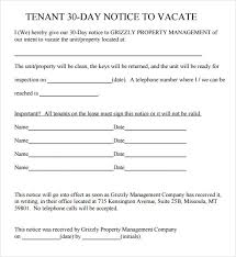 sample 30 day notice template 10 free documents in pdf word