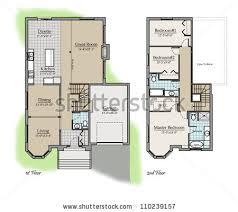Color Floor Plan Two Storey Floor Plan Colored Room Stock Illustration 110239157