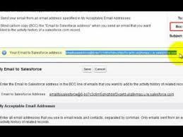 How Does Blind Carbon Copy Work Bcc To Salesforce Youtube