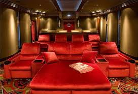 cool home theaters bricks design on wall basement home theater ideas red brick