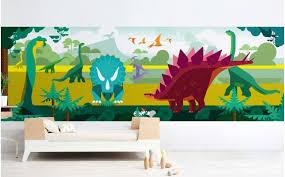 chambre dinosaure papier peint panoramique dinosaure déco murale enfant sur mesure