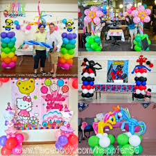 balloon decoration singapore party favors ideas