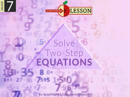 solving two step equations lesson plans
