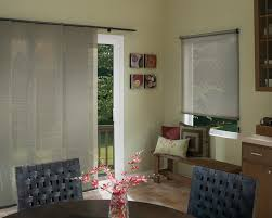 decor window treatment ideas for sliding glass doors sloped