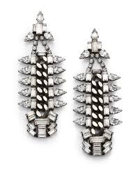 dannijo earrings lyst dannijo gavin chain drop earrings in metallic