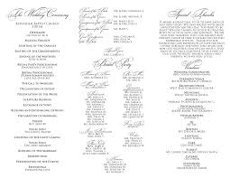 tri fold wedding program templates 17 best ceramony images on wedding stationary