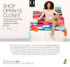 put your bids in oprah u0027s cleaning out her closet on ebay