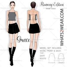 female fashion runway croquis template u2013 illustrator stuff
