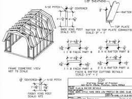 How To Build A 10x12 Shed Plans by Gambrel Roof 10 U0027 X 12 U0027 Barn Style Shed Plan Youtube