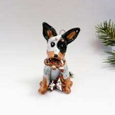 australian cattle ornament heeler porcelain