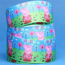 peppa pig ribbon peppa pig ribbon peppa in the garden