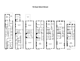 Row House Floor Plans Safra Family U0027s Four Ues Townhomes Hit Market For 155m Streeteasy