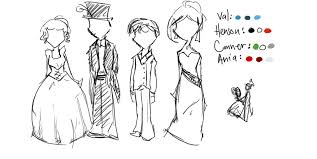 conner u0027s family fancy dress sketches by tigerach on deviantart