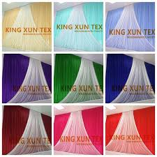 wedding backdrop prices new design wholesale price wedding backdrop curtain with organza
