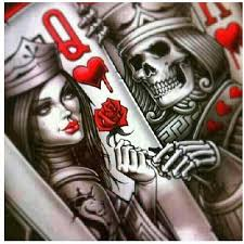 queen of hearts card tattoo by mnk18 on deviantart