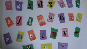 recycled alphabet craft no time for flash cards