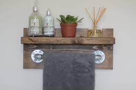 Industrial Decor Small Rustic Industrial Towel Rack Bathroom Shelf Rustic Home