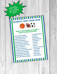 baby shower sports invitations sports baby shower games celebrity baby name game with answers