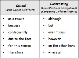 causal and contrasting conjunctions year 4 by lukenarborough