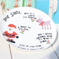 personalised santa plate by the little blue owl