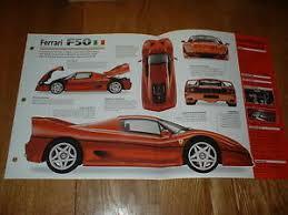 f50 gt specs 1997 f50 original imp brochure specs info f 50 95 96 97 98