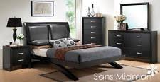 Black Wood Bedroom Set Queen Bedroom Furniture Set Ebay