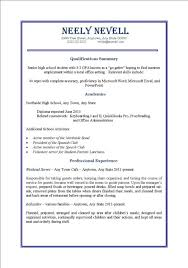 Resume Template First Job by How To Write A Job Resume For A Highschool Student Examples Of