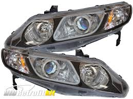 honda civic headlight 2006 2011 honda civic sedan custom bi xenon hid retrofit