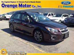 orange subaru impreza 2013 subaru impreza 2 0i sport premium 5 door in deep cherry red