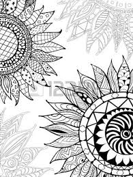 sunflower ornaments for antistress coloring book