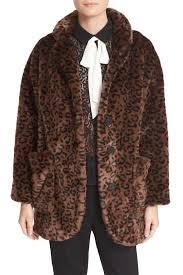 Leopard Print Faux Fur Throw The Kooples Leopard Print Faux Fur Coat Nordstrom Rack