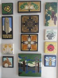 How To Hang Pictures On Wall by Decorating Dard Hunter Rose Motawi Tile For Wall Ornaments Ideas