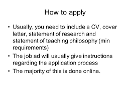 cvs and cover letters preparing for the academic search ppt