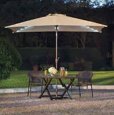 11 foot rectangular solar patio umbrella light led outdoor lights