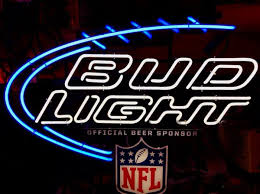 bud light nfl neon sign bud light nfl neon sign collectibles in glendale heights il