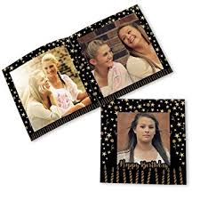photo album personalized buy clixicle personalized flip photo book album birthday black