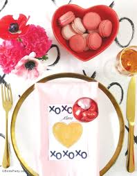 Valentines Day Tablescapes A Modern Valentine U0027s Day Dinner Party Party Ideas Party Printables