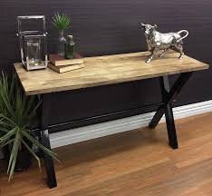 Mango Wood Console Table Mia Console Table Side Desk Mango Wood Timber Top Hallway Metal