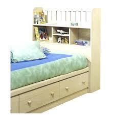 storage beds full white bookcase headboard king size bed with head
