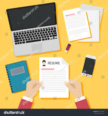 Job Interview Resume by Job Interview Concept Business Resume On Stock Vector 391182793