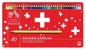 caran d u0027ache swisscolor colour pencils in metal box pack of 40